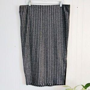 Torrid Silver Rib Midi Pencil Skirt 2